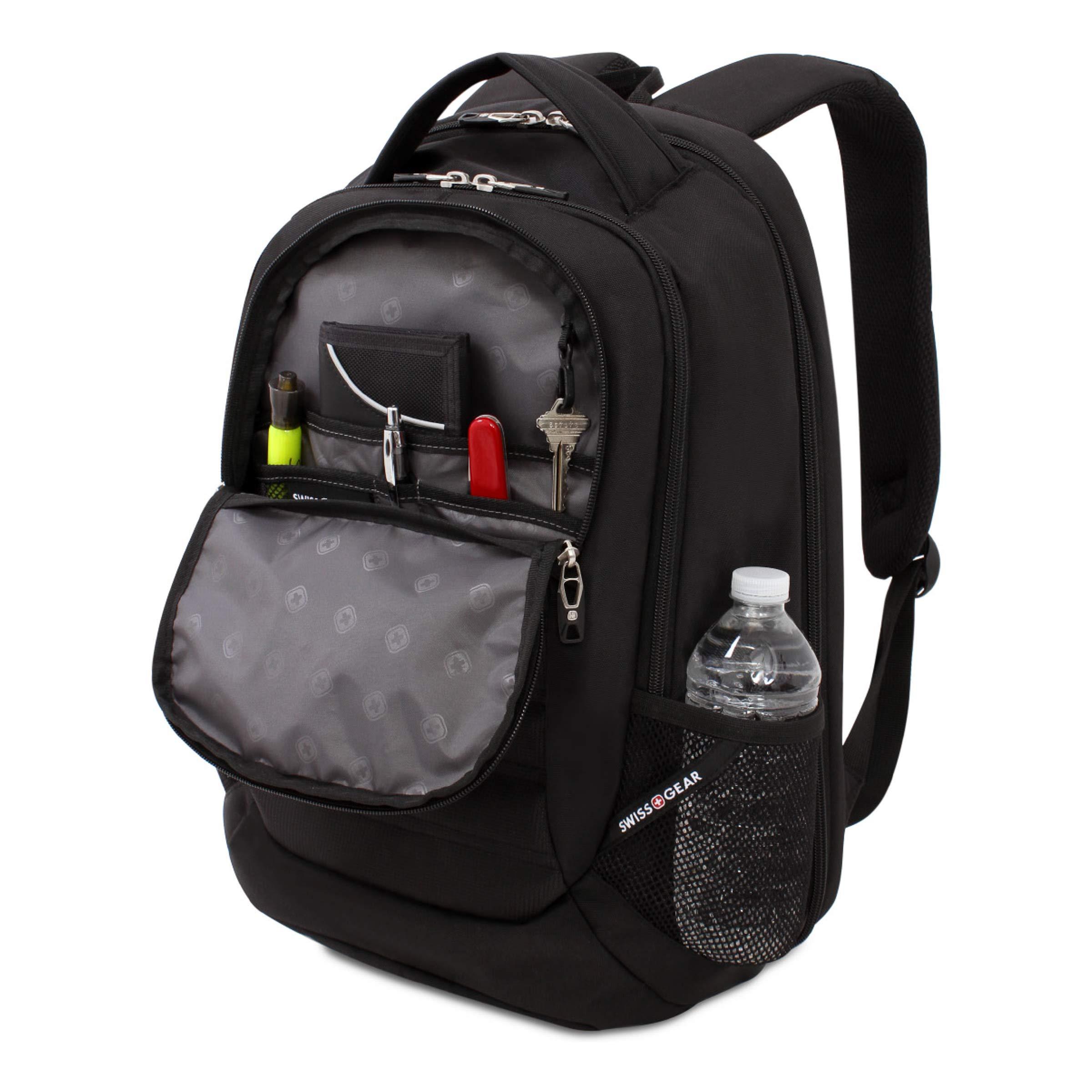 SWISSGEAR Large, Padded, ScanSmart 15-inch Laptop Backpack | TSA-Friendly Carry-on | Travel, Work, School | Men's and Women's - Black by Swiss Gear (Image #3)