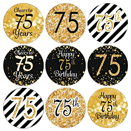 Amazon DISTINCTIVS Black And Gold 75th Birthday Party Favor