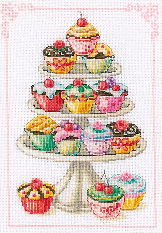 Counted Cross Stitch Kit Cupcake Anyone? Vervaco 2002\70.349