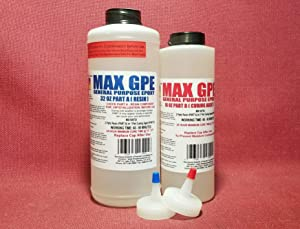MAX GPE Epoxy Resin System - 48 Ounce Kit Injectable Glue for RV Panel, Wood Sealing, Waterproofing, Impregnating Lay-Up Resin for Fiberglass, Clear, Thin, Slow Setting