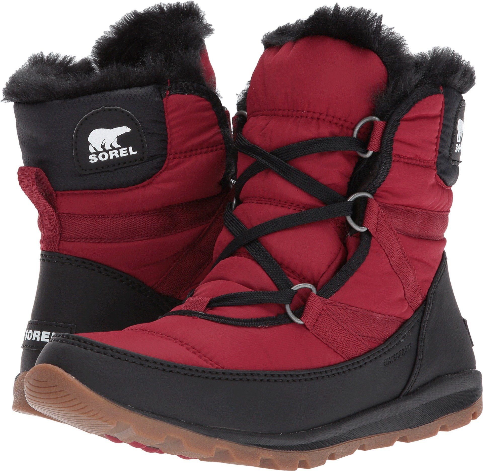 Sorel Women's Whitney Short Lace Boot Red Element 9.5 by SOREL