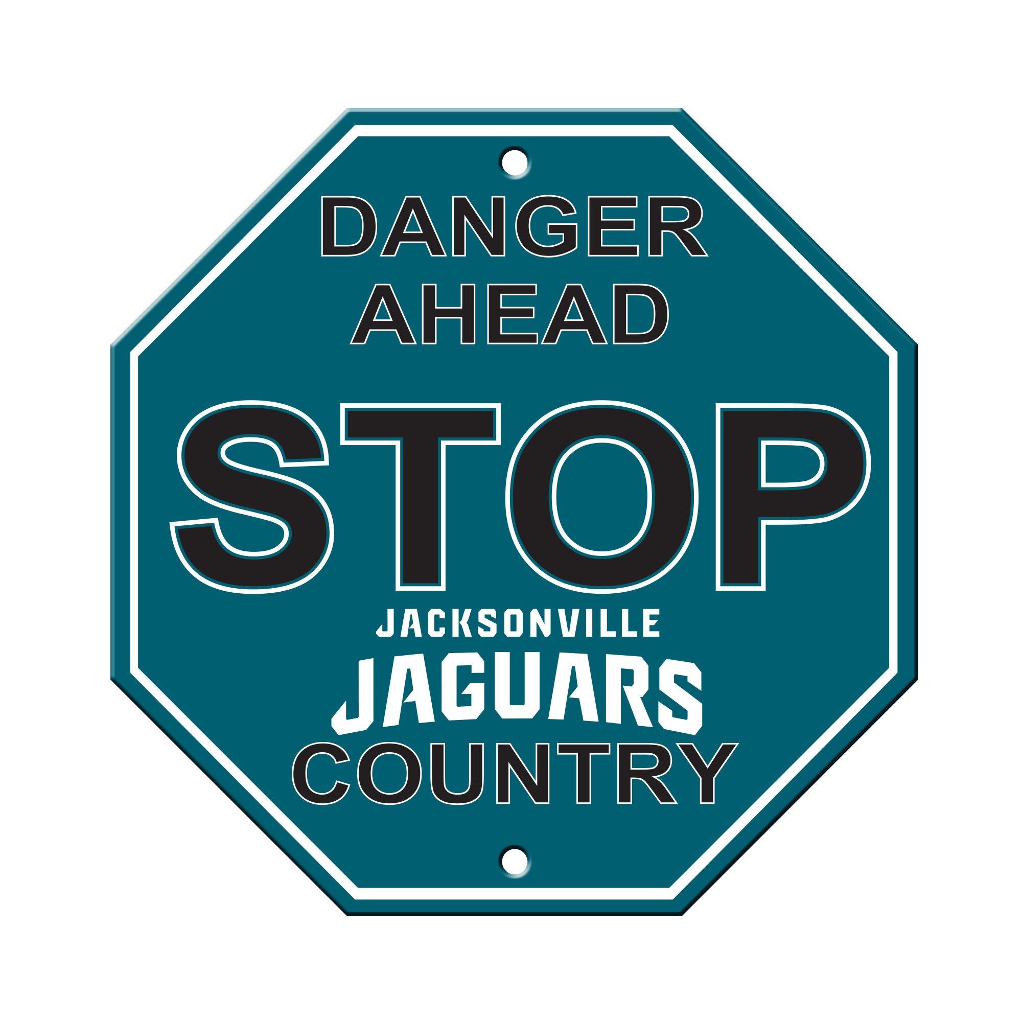 "NFL Jacksonville Jaguars Stop Sign, 12"" x 12"