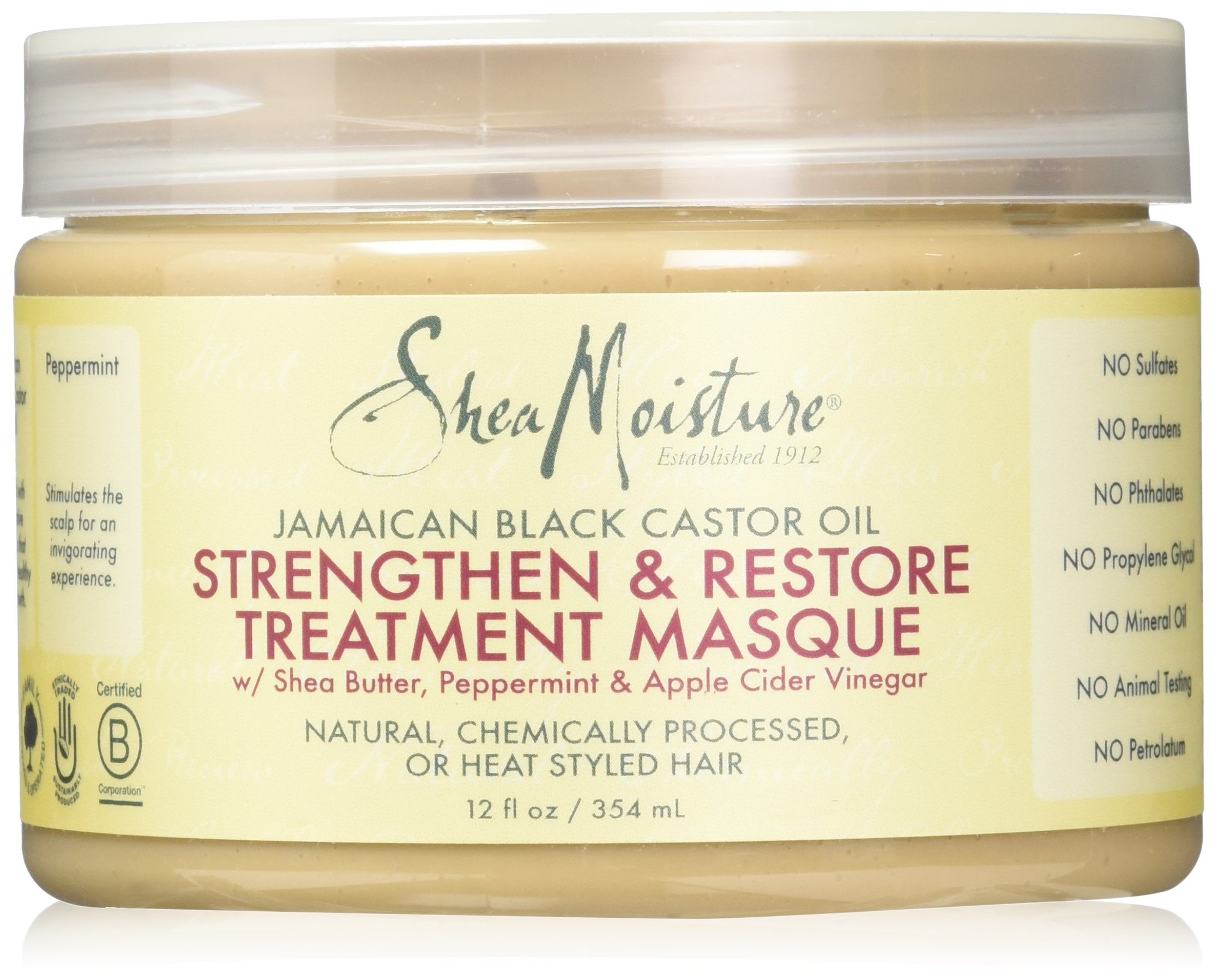 SheaMoistureJamaican Black Castor Oil Strengthen, Grow & Restore Treatment Masque | 12 fl.oz.