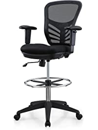 Poly And Bark Brighton Drafting Chair In Black
