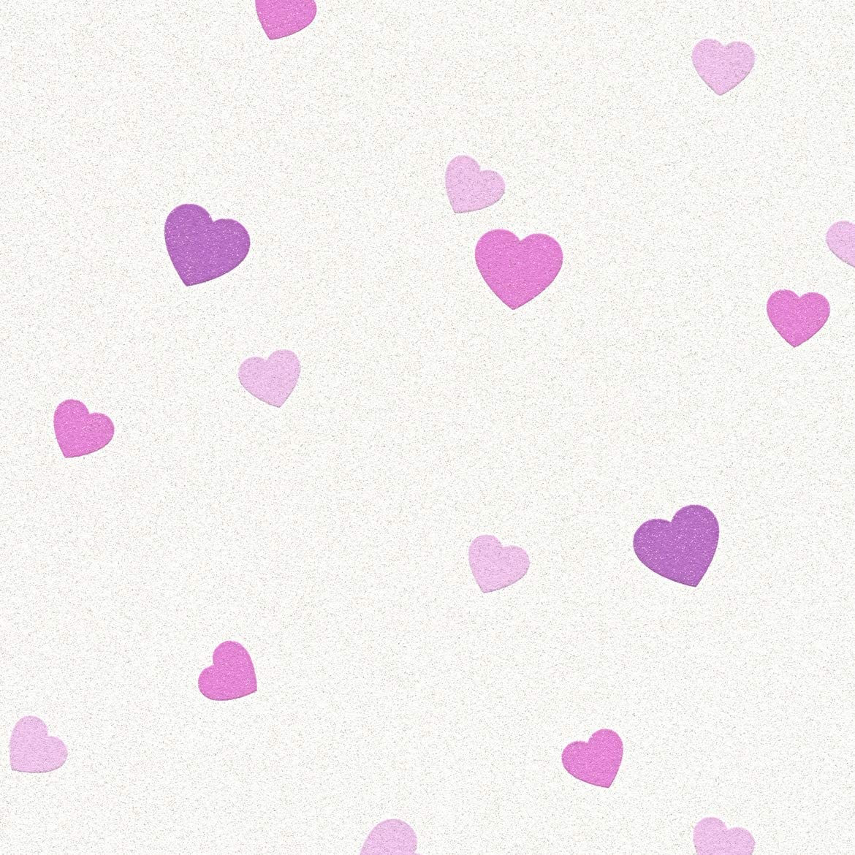 A.S Cr/éation Strukturprofiltapete Boys /& Girls 6 Tapete mit Herzen 10,05 m x 0,53 m creme metallic lila Made in Germany 357502 35750-2