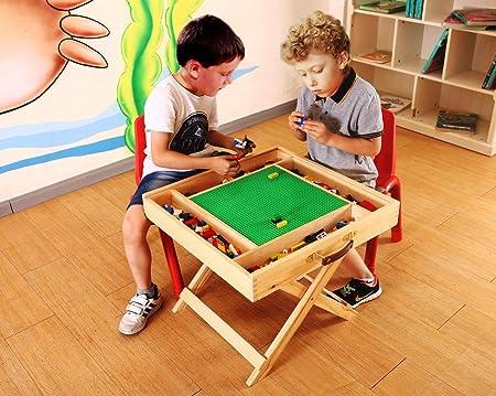 Yu0026J Lego Table With Storage Play Folding Custom Made Wooden Chalkboard Kids  Children BLFT