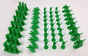 Napoleonic & Civil War Military Miniatures (Green): Plastic Toy Soldiers Set: Infantry, Cavalry, Artillery, Ships