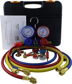 ACTECmax A//C Air Condition R134a Manifold Gauge Set Kit Auto Refrigerant