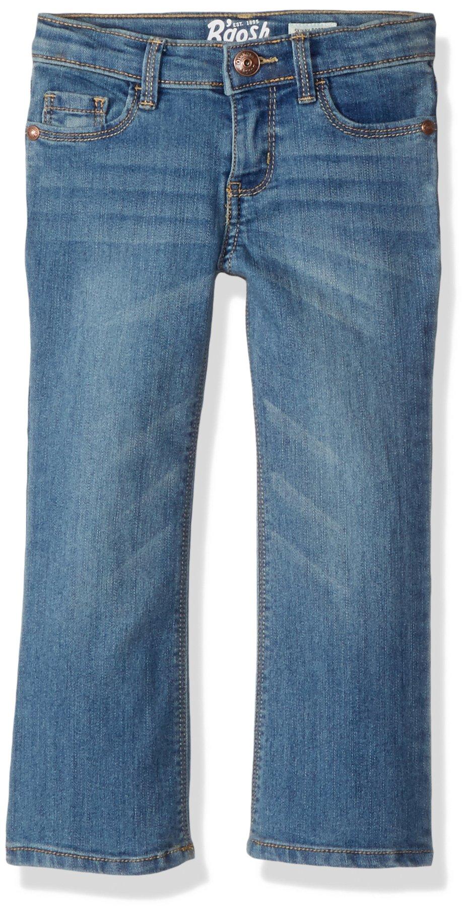 Osh Kosh Girls' Toddler Skinny Boot Denim, Brushed Blue, 4T by OshKosh B'Gosh