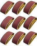 S SATC Belt Sander 20PCS 3x18 Sanding Belt Sanding Belts Belt Sander Paper (3 Each of 60, 80, 120,150,240,400 Grits, 2…