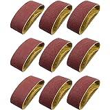 S SATC Belt Sander 20PCS 3x18 Sanding Belt Sanding Belts Belt Sander Paper (3 Each of 60, 80, 120,150,240,400 Grits, 2 of 40