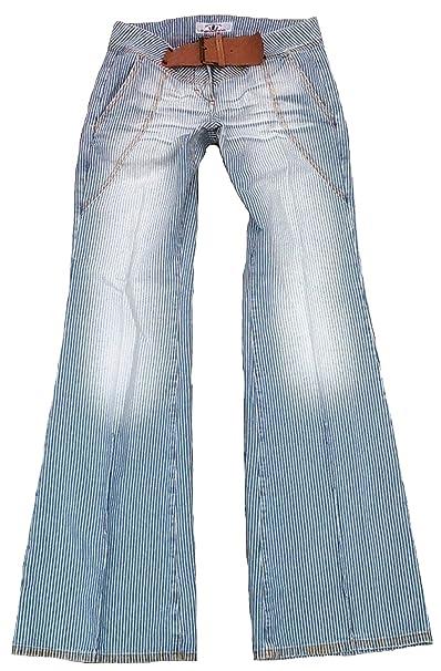Fornarina Mujer Jeans Azul Blanco Model Bitter Martillo ...