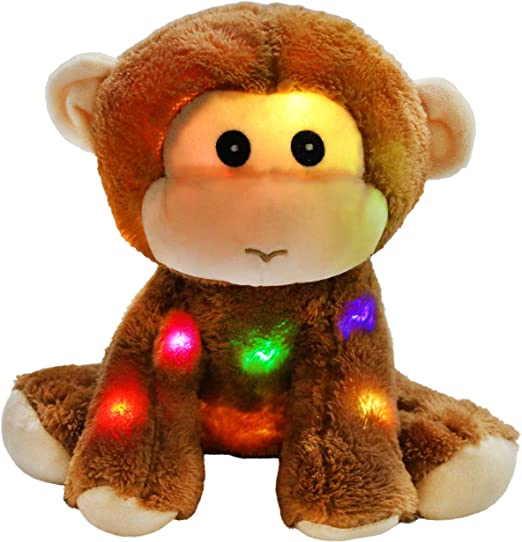 8 Athoinsu Light up Stuffed Husky Puppy Dog Soft Plush Toy with Magic LED Night Lights Birthday for Toddler Kids