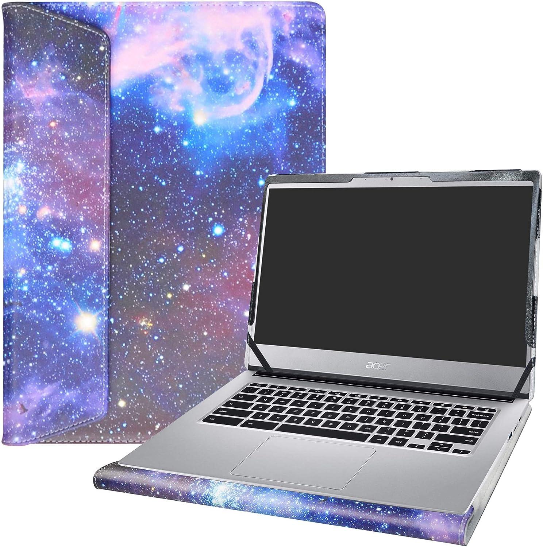 "Alapmk Protective Case Cover for 14"" ACER CHROMEBOOK 514 CB514-1HT CB514-1H & Lenovo ideapad S340 S340-14API S340-14IWL Laptop [Note:Not fit Acer Chromebook 14 CB3-431/FOR Work CP5-471],Galaxy"