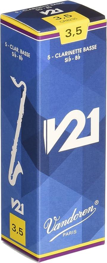 Vandoren CR8235 - Caja de 5 cañas para clarinete bajo: Amazon.es: Instrumentos musicales