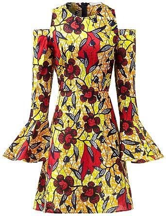195ca93cc05 Women African Print Maxi Long Dresses Winter Autumn Women Retro Long ...