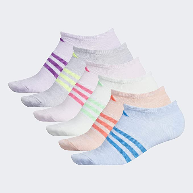 adidas Superlite No Show Socks (6 Pack) Calcetines, niña: Amazon ...