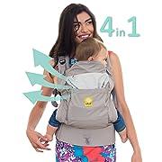 LÍLLÉbaby 4 in 1 Essentials All Seasons Baby Carrier, Stone