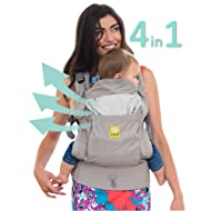 LÍLLÉbaby 4 in 1 Essentials All Seasons Baby Carrier, Stone