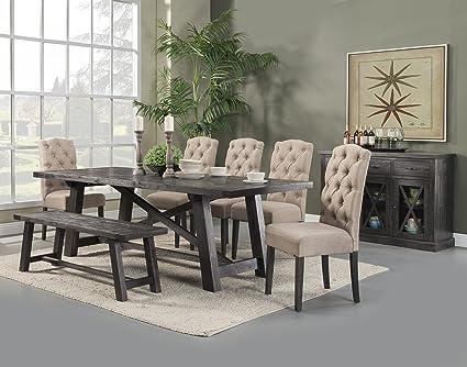 Admirable Amazon Com Alpine Furniture Newberry 5 Piece Dining Set Short Links Chair Design For Home Short Linksinfo