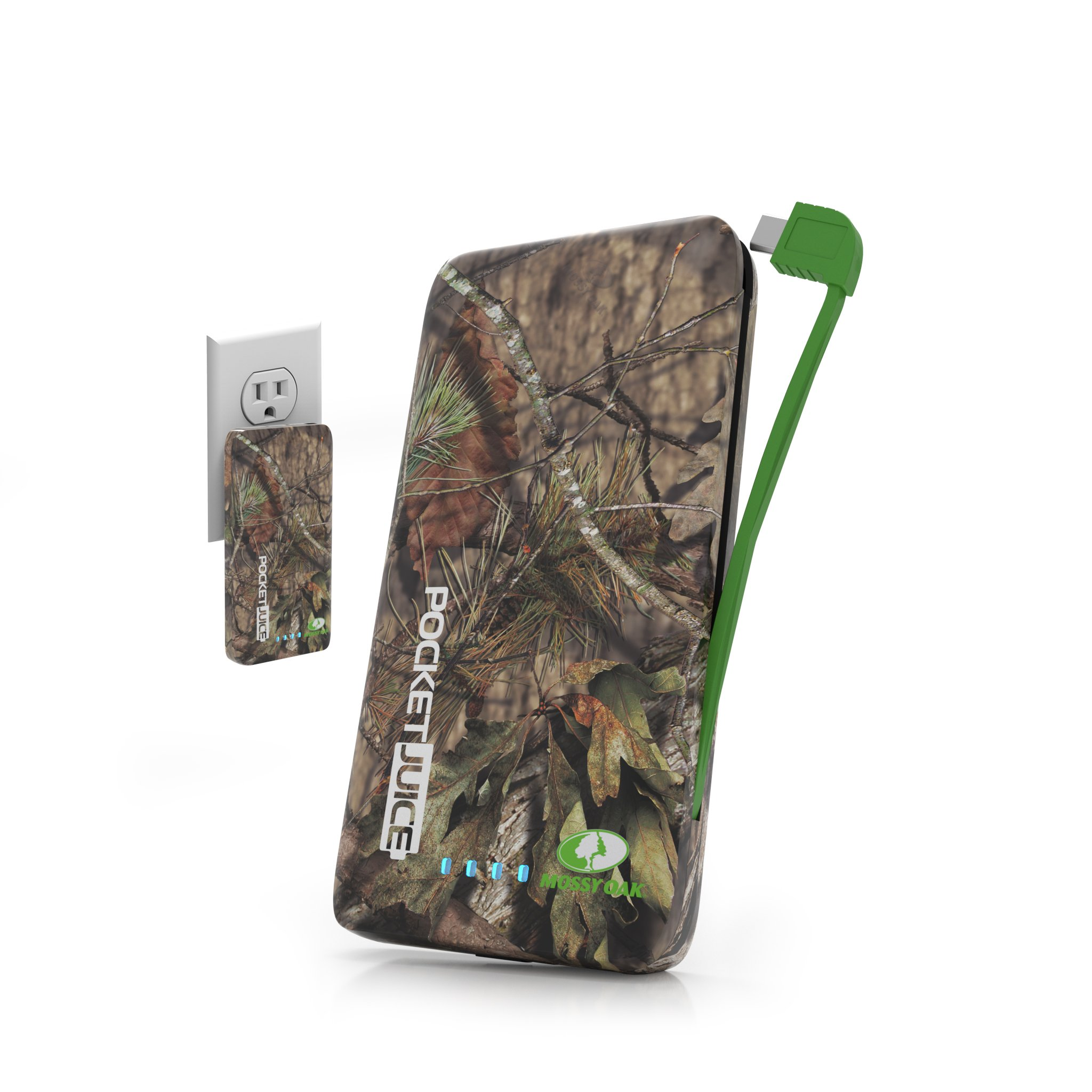 Tzumi PocketJuice Endurance AC - Mini Portable Device Battery Pack Charger - 4,000 mAh High-Speed Single USB Port - Works With All iPhone And Android Devices & Includes Micro USB Cable – Mossy Oak