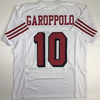 50c6acc8a6b30 Unsigned Jimmy Garoppolo San Francisco Alternate Retro White Custom  Stitched Football Jersey Size Men's XL New