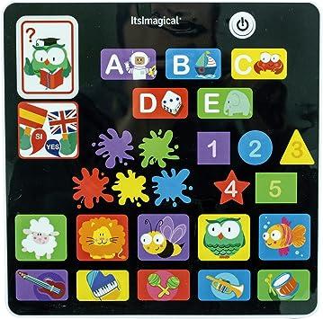 Amazon.es: itsImagical Tablet táctil con Juegos para niños Discover Duo Tablet bilingüe español Ingles