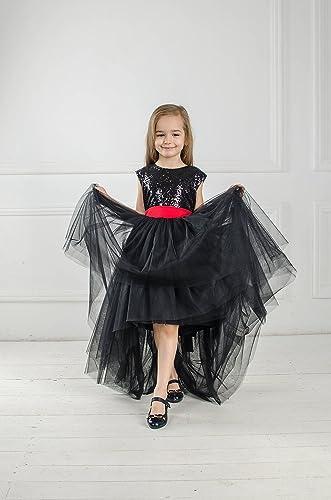 Amazon Black Pageant Dress Black Sequin Tutu Flower Girl Dress
