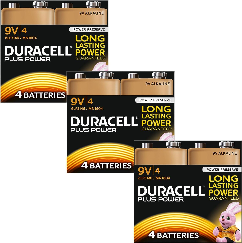 Duracell Mn1604 Plus Power 9 V Batteries Pack Of 12 Elektronik