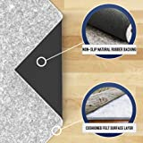 "RUGPADUSA, 7'x9', Ultra Black 22 - 1/4"" Thick (FELT + RUBBER) Non-Slip Rug Pad, Available in 3 thicknesses, Adds Cushion and Prevents Slipping, Safe for Hardwood and All Surfaces"