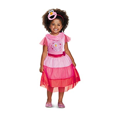 Elmo Dress Classic Costume, Pink, Small (2T): Toys & Games