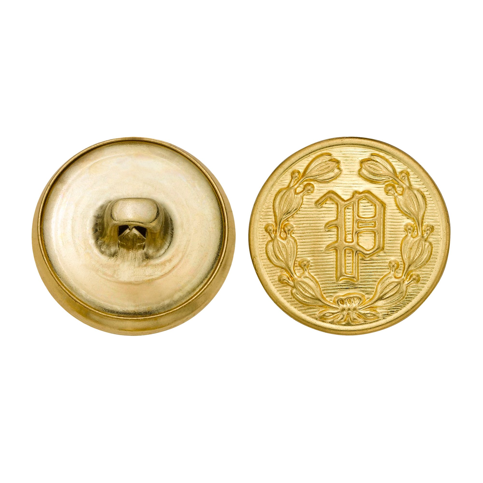 C&C Metal Products 5202 Police P Metal Button, Size 30 Ligne, Gold, 36-Pack by G & S Metal Products Company