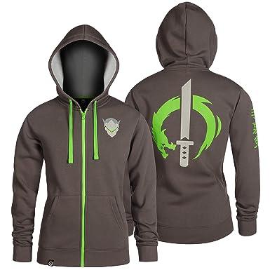 amazon com jinx overwatch ultimate genji zip up hoodie clothing