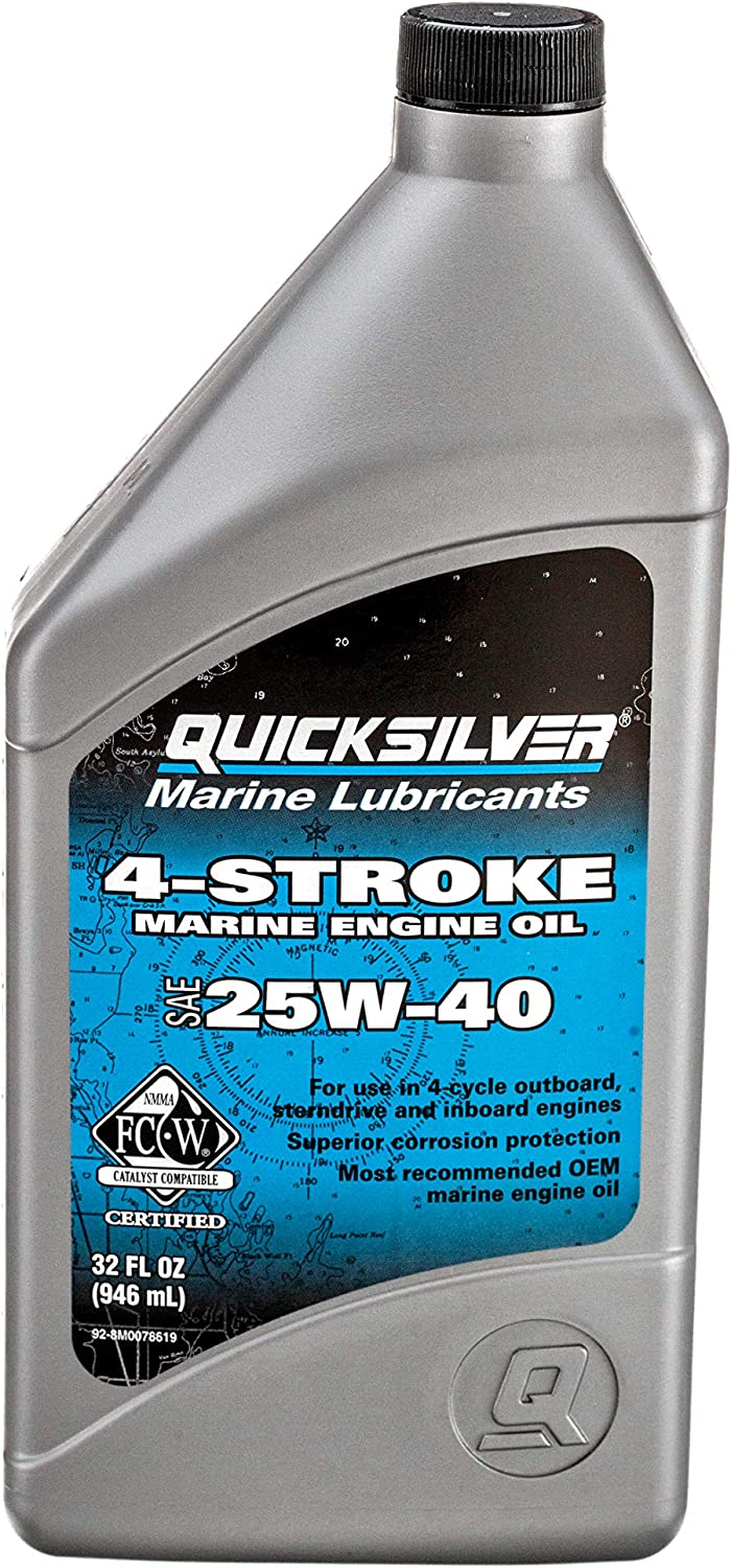 Mercury MERC8M0078619 4872-0065 4 Stroke Fishing Equipment, Silver, 1 Quart