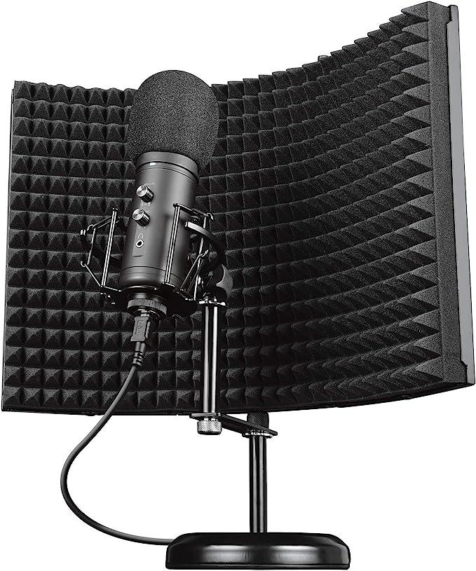 Trust Gaming Mikrofon Mit Schaumstoff Reflektor Gxt 259 Rudox Usb Studio Microphone Mit Isolationsschutz Popfilter Für Aufnahmen Gesang Musik Pc Podcast Streaming Youtube Schwarz Computer Zubehör