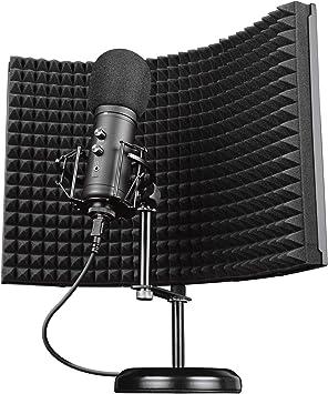 Todo para el streamer: Trust Gaming Micrófono Profesional con Pantalla Absorbente GXT 259 Rudox - Micrófono USB de Condensador para Cantar, Estudio, Grabación, PC, Podcast, Streaming, Voz, Youtube, Aislamiento Acústico
