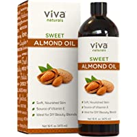 Viva Naturals Almond Oil (16 Oz) - Sweet Almond Oil for Skin or Almond Oil for Hair, The Perfect Natural Body Oil for…