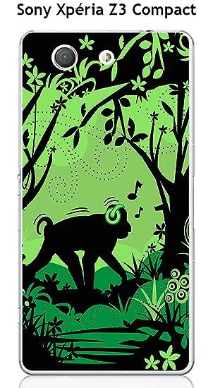 Onozo - Carcasa para Sony Xperia Z3 Compact, diseño monkey1 ...