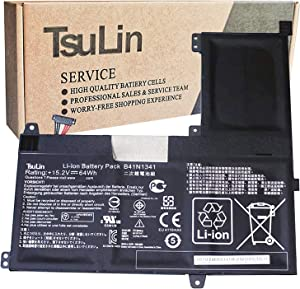 TsuLin B41N1341 Laptop Battery Compatible with Asus Q502 Q502LA Q502LA-BBI5T14 Q502LA-BBI5T12 Q502LA-BBI5T15 Series Notebook 15.2V 64Wh 4110mAh