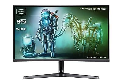 Samsung C32JG52 Monitor WQHD da Gaming Curvo da 32'', Base a Doppio Snodo, 2560x1440, 1800R, 4 ms, 144 Hz, 2 HDMI, 1 Display Port, Colore Nero