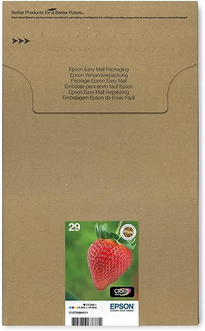 Epson Original 29 Tinte Erdbeere Xp 235 Xp 332 Xp 335 Xp 432 Xp 435 Xp 245 Xp 342 Xp 345 Xp 442 Xp 445 Xp 247 Xp 257 Xp 255 Xp 352 Xp 355 Xp 452 Xp 455 Multipack 4 Farbig Bürobedarf Schreibwaren