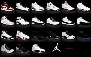 movie posters r' us Jordan Brand Sneakers Collection Poster 1-23 24x36 inches This is a Certified Print with Holographic Sequential Numbering for Authenticity.