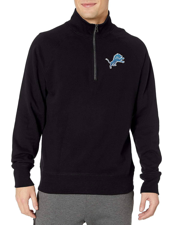 OTS NFL Detroit Lions Mens Fleece 1//4-Zip Pullover Logo Medium