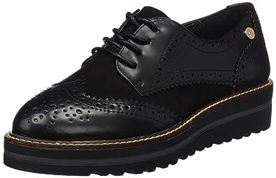 047336, Zapatos de Cordones Oxford para Mujer, Azul (Navy), 36 EU Xti