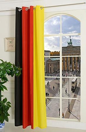 HxB Gardine Vorhang Schal mit Ösen Deutschland Flagge 1 Stück 245x140 HxB
