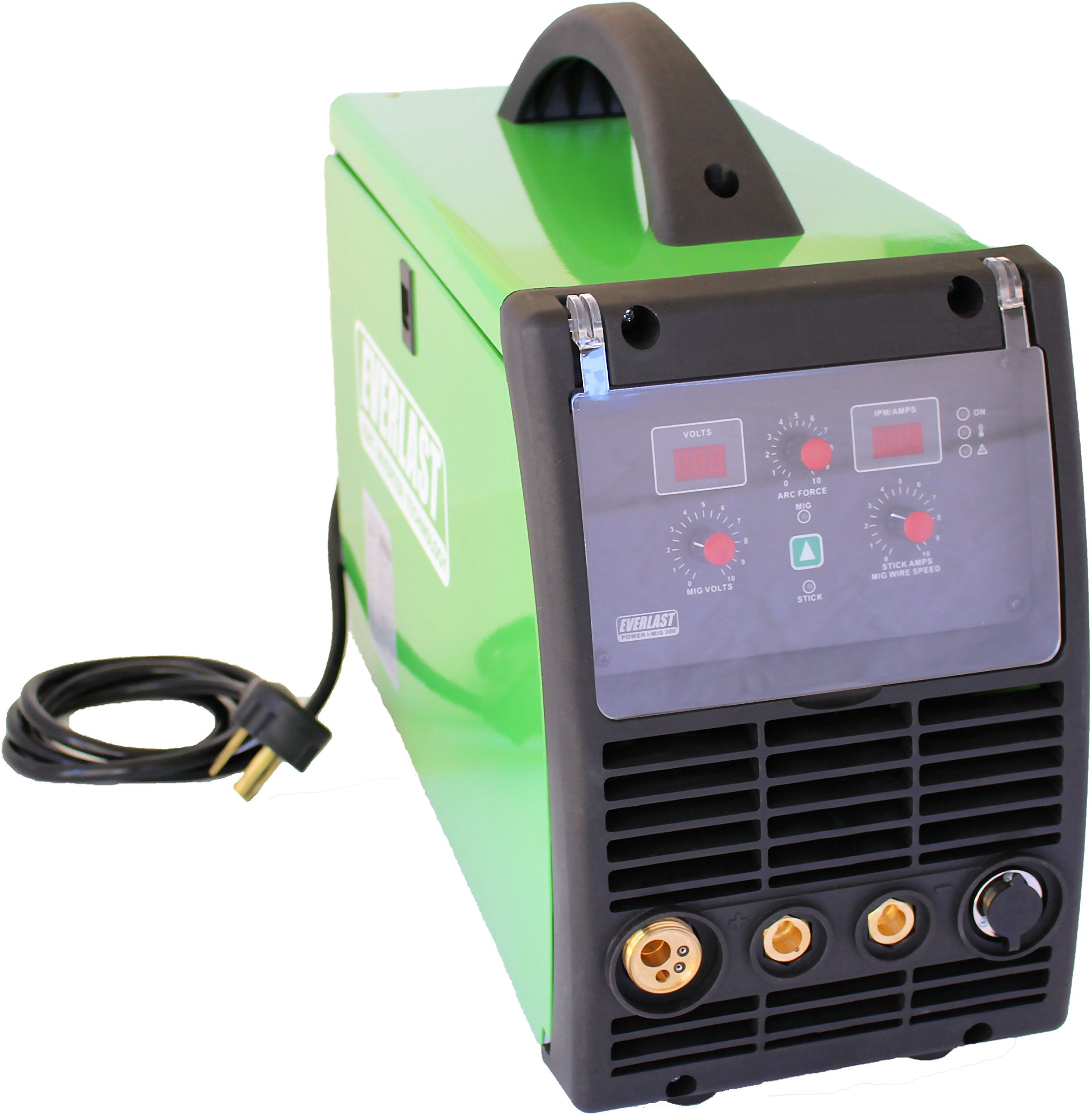 2019 Everlast PowerMIG 200 200amp MIG stick welder dual voltage 110v/220v spool gun ready by Everlast Power Equipment