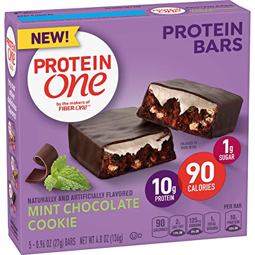 Protein One 90 Calorie Protein bar Mint Chocolate Cookie, 5 Count