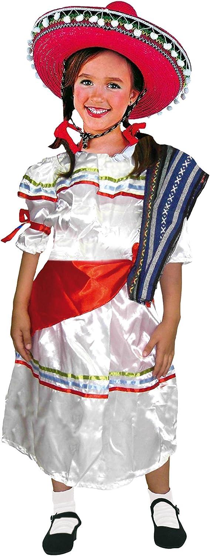 EL CARNAVAL Disfraz Mejicana Infantil Talla de 8 a 10 años