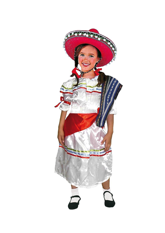 EL CARNAVAL Disfraz mejicana niña Talla de 4 a 6 años: Amazon.es ...