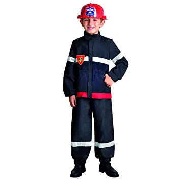 César - Disfraz de bombero para niño, talla 3-5 años (F173 ...